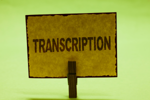 Advantages of Having a Transcriber on the Side